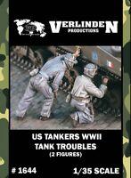 Verlinden 1:35 WWII US Tankers Tank Troubles - 2 Resin Figures Kit #1644