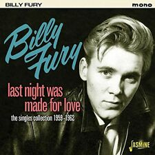 Last Night Was Made For Love-1959-1962 - Billy Fury (2015, CD NIEUW)