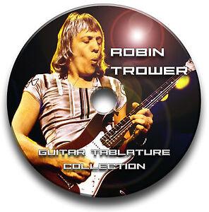 ROBIN TROWER & PROCOL HARUM ROCK GUITAR TAB TABLATURE SONG BOOK SOFTWARE CD