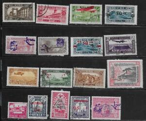 17 Syria Stamps from Quality Old Antique Album