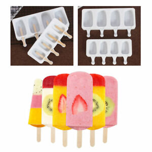 Silicone Ice Cream Cake Mold Ice Lolly Baking Frozen Mould Tray DIY Kitchen Tool
