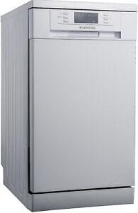 WOLKENSTEIN WDW9-7SI Stand Geschirrspüler Edelstahl 85x45cm