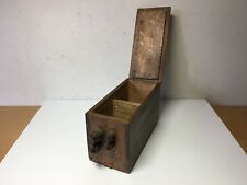 Used - OLD BOX of to Hardware Store ANTIGUA BOX Hardware 6 5/16x3 11/16x3in