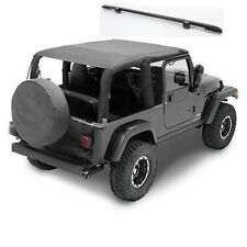 2004-2006 Jeep Wrangler Unlimited Extended Bikini Top & Windshield Channel Combo
