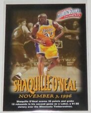 1997/98 Shaquille O'Neal LA Lakers NBA Fleer Million Dollar Moments Card #19of50