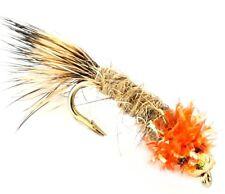 6 X Trout Fishing Flies GOLD HEADED NYMPHS  33J X 6 X RED TOP