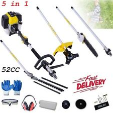5 in 1 Hedge Trimmer Multi Tool Petrol Strimmer BrushCutter Garden Chainsaw 52cc