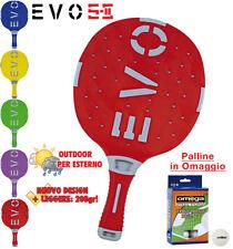 EVO S-II rossa racchetta ping pong sfera-vetro/termoplastica peso208gr + omaggi