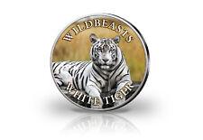 Krugerrand 1 Onza Moneda de Plata 2020 Sudáfrica Con Farbmotiv Blanca Tigre