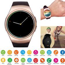 Round Screen Smart Watch Bluetooth Phone for Men Women Lady Samsung Huawei ASUS