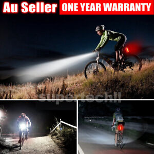 Rechargeable LED Bicycle Bike Light USB Waterproof Cycle Front Back Headlight