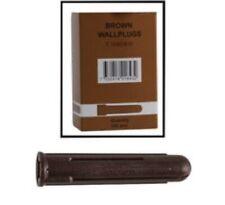 1000x Brown Plastic Wall Plugs Drill: 7mm