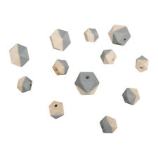 Beads Wood With Facets Grey - Rayher