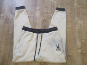 Psycho Bunny PJ Pant Men Cotton Thermal Pajama Lounge Jogger white/navy XL