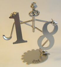 Hip Hip Hooray 18 18th Birthday metal sculpture gift