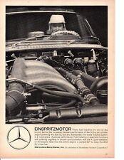 1959 MERCEDES-BENZ ENGINE ~  CLASSIC ORIGINAL PRINT AD