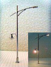 S116 - 10-pc moderne Luminaire de rue 2 flammes 8,5cm Fouet brillance