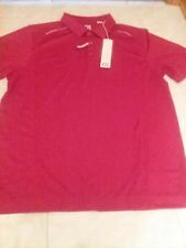 NWT Cutter & Buck size L DryTec Red Golf Polo Shirt  $67 New
