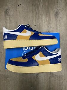 DEADSTOCK Nike Air Force Low Undefeated 5 Blue Yellow Croc Size 12 DM8462-400