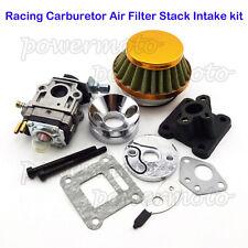 Performance Carburetor Air Filter Stack Kit For 47 49cc ATV Pocket Bike MiniMoto