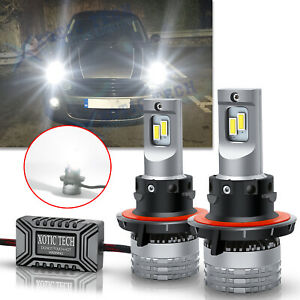 2pcs H13 LED Headlight Kit High Low Beam ERROR FREE Bright Bulbs For Mini Cooper