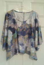 Beautiful Oasis Floral Top/Blouse Blue/Green/White, Size L, excellent condition