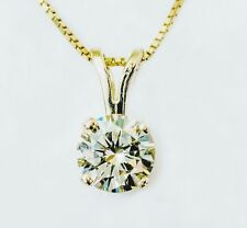 14KT DIAMOND SOLITAIRE NECKLACE WITH .80 ROUND NATURAL VS1 DIAMOND!