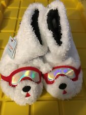 Cat & Jack Polar Bear Plush Slippers Child Youth Size Large 4-5 New With Tags *
