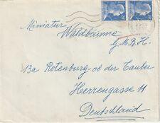 1958 France cover sent from Strassbourg to Rothenburg ob der Tauber Germany