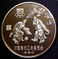 Original China Mint 1980 China 20 Yuan Soccer Silver Proof Olympics Coin