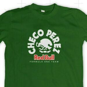 T-Shirt Red Bull F1 Racing Sergio Checo Perez 🇲🇽 Motorsport Tee Adult Sz