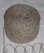 900 G 9 x 100 G Grigio Beige Farina D'AvenA Tweed 100% lana inglese doppio lavoro a maglia filato DK