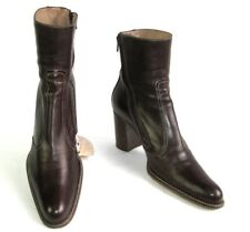FREE LANCE Bottines santiags zip cuir marron cognac 39 EXCELLENT ETAT