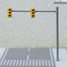 2 x HO / OO traffic light signal LED model train crossing walk Street sign #V2B3
