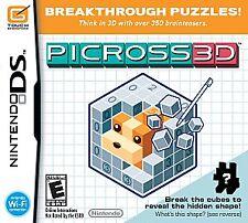 Picross 3D  (Nintendo DS) Lite Dsi xl 2ds 3ds xl