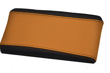 FITS ALFA ROMEO 147 ARMREST LID COVER LEATHER black & orange