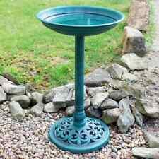TRADITIONAL ORNAMENTAL BIRD BATH POLY RESIN BIRDS TABLE PEDASTAL FREE STANDING