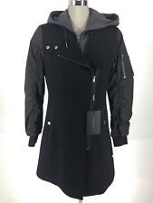 Andrew Marc New WT Rowan Elegant Mix Wool Blend Black Coat size 2 4 6 8 10 12