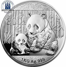 China 300 Yuan 1 kg Silber 2012 PP  Großer Panda  Himmelstempel im Etui mit COA