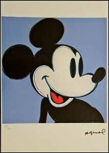 ANDY WARHOL * Mickey Mouse * signed lithograph * limited # 67/125