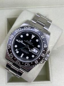 2008 Rolex GMT-Master II Stainless Steel Automatic Watch - 116710 - Box Included