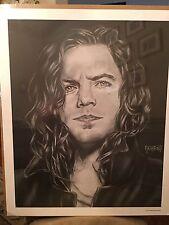 Eddie Vedder - Rare Charcoal sketch by Bradford John Salamon