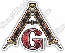 """Mason Freemason Illuminati Eye Providence Car Bumper Vinyl Sticker Decal 5""""X4"""""""