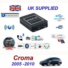 For Fiat Croma Bluetooth Telephone Streaming AUX Input 2 x USB SD Card Reader