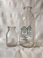 Vintage Quart & Half Pint Milk Bottle Beloit Dairy Of Chicago Illinois