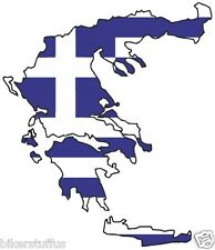 GREECE SILHOUETTE FLAG MAP FLAG BUMPER STICKER LAPTOP STICKER TOOLBOX STICKER