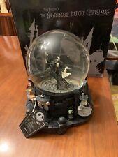 NIB Rare 2001 Neca Nightmare Before Christmas Disney Water Snow Globe Jack Sally