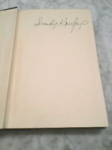 Sandy Koufax W/ Ed Linn Hardcover Book 1966. Early Signature. Signed / Autograph