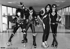 "KISS in London Heathrow 1976 NEW A1 Size 84.1cm x 59.4cm - 33"" x 24"" Poster"
