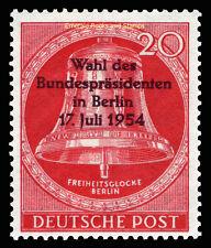 EBS West Berlin 1954 Presidential Election Wahl Bundespräsident Michel 118 MNH**